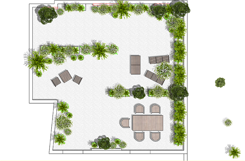 Paysagiste bordeaux am nagement de jardins terrasses for Conception de jardin terrasse